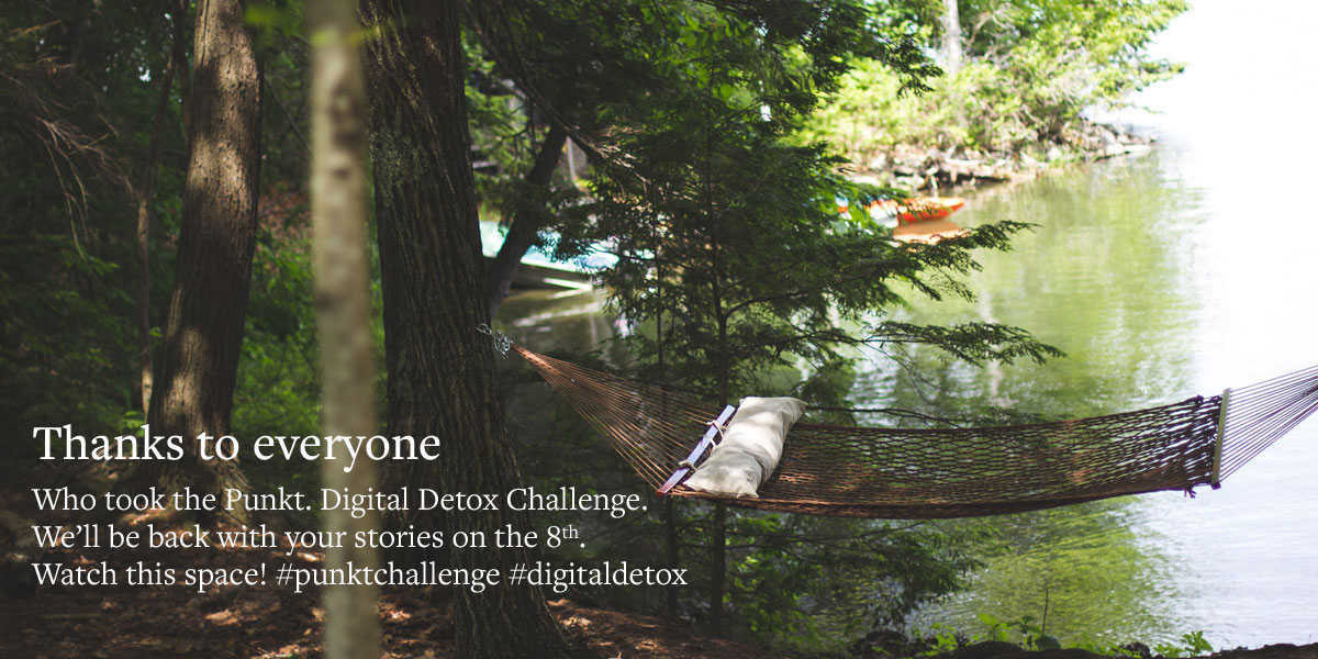 The Digital Detox Challenge, Summer 2016