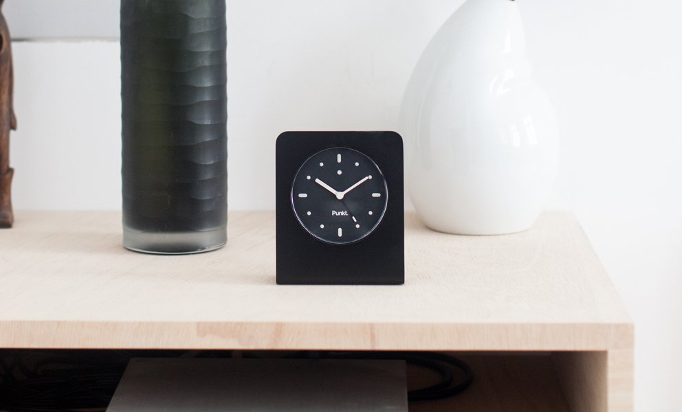 The black AC01 by Punkt. designed by Jasper Morrison