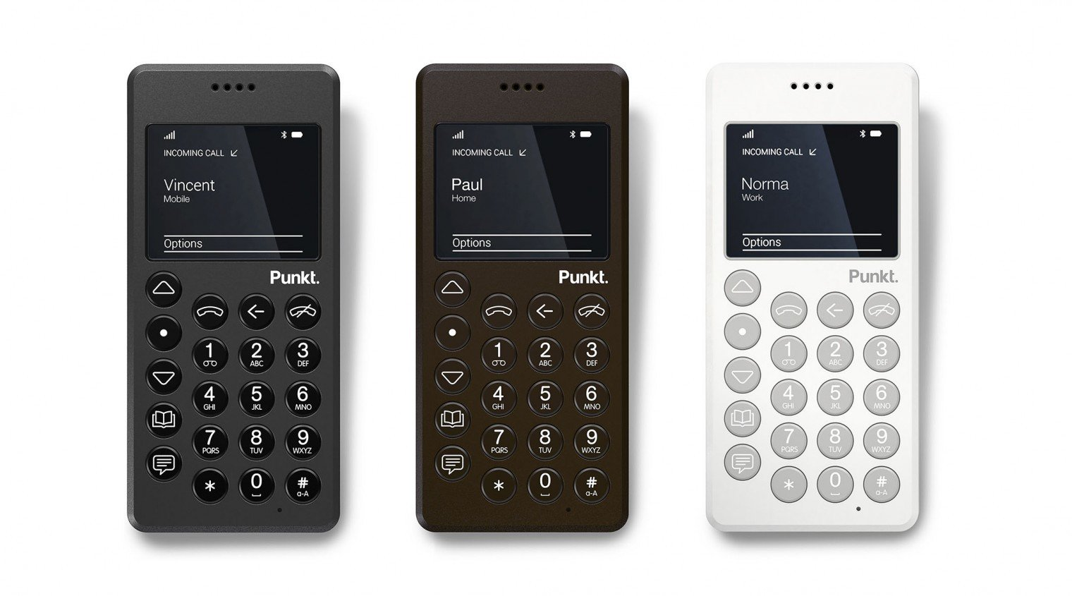 London Design Festival 2016:  Punkt. presents additional colour options for the acclaimed MP 01 mobile phone at the Jasper Morrison shop